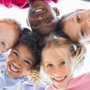 5 smiling children illustrating the benefits of healthy boundaries