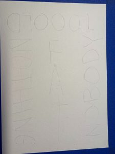 photo of the words written in pencil