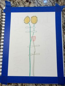 photo of how to draw flowers over the words