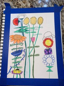 photo of step in art creation on transform negative thoughts