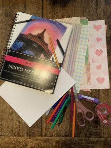 photo of supplies needed for the activity about Who is the real me?